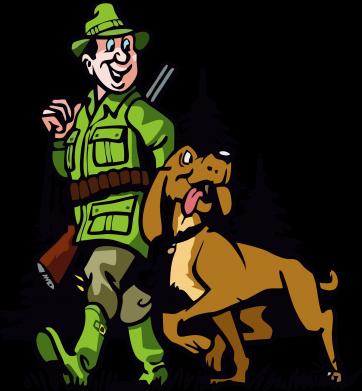 Принт Футболка с длинным рукавом Охотник с собакой - FatLine