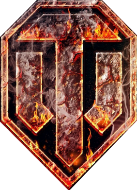 """Принт Женская футболка Логотип World Of Tanks """"Раскаленный металл"""" - FatLine"""