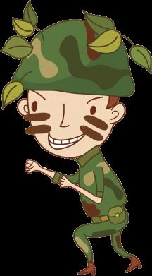 Принт Фартук Cміливий солдат - FatLine