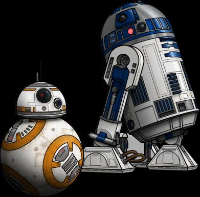 Принт Женская майка R2D2 & BB-8 - FatLine