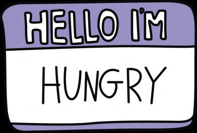 Принт Кепка Hello, I'm hungry, Фото № 1 - FatLine