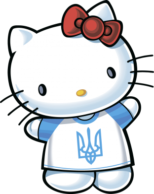 Принт Штаны Hello Kitty UA - FatLine