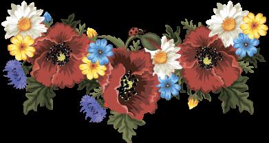 Принт Майка-тельняшка Украинские цветы - FatLine