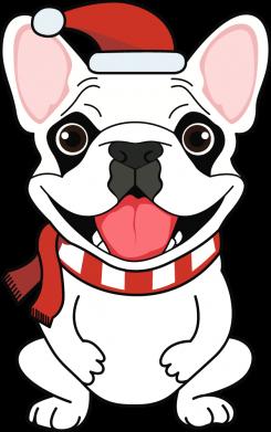 Принт Кепка New Year's French Bulldog, Фото № 1 - FatLine