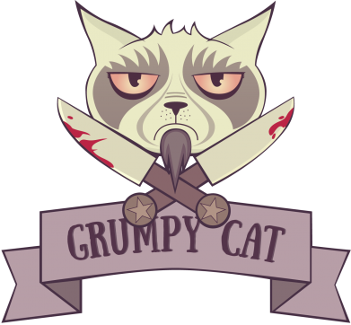 Принт Кепка Grumpy Cat - FatLine