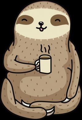 Принт Кепка Sloth loves coffee, Фото № 1 - FatLine