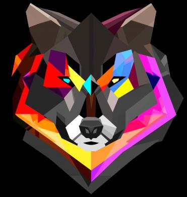 Принт Детская кепка Сolorful wolf - FatLine