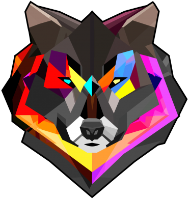 Принт Кружка 320ml Сolorful wolf - FatLine