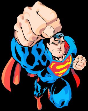 Принт Мужская толстовка Супермен Комикс - FatLine