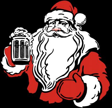 Принт Кепка Santa Claus with beer, Фото № 1 - FatLine