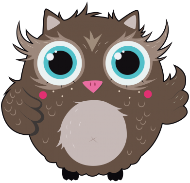 Принт Снепбек Sweet little owl - FatLine