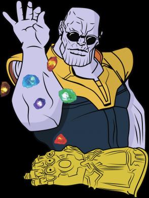 Принт Жіноча футболка Thanos Art, Фото № 1 - FatLine