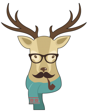 Принт Фартук Hipster Christmas Deer - FatLine