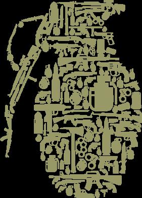 Принт Жіноча футболка Grenade Art, Фото № 1 - FatLine