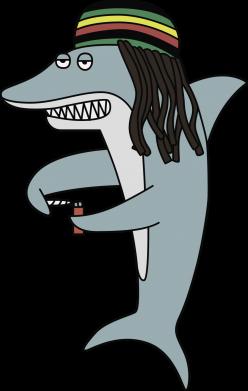 Принт Жіноча футболка Shark Rastaman, Фото № 1 - FatLine