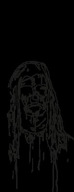 Принт Жіноча футболка Ghostemane gothic paint face, Фото № 1 - FatLine