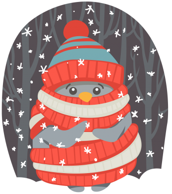 Принт Шапка Christmas Sweet Penguin - FatLine