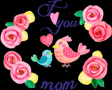 Принт Жіноча футболка Люблю тебе, мамо!, Фото № 1 - FatLine