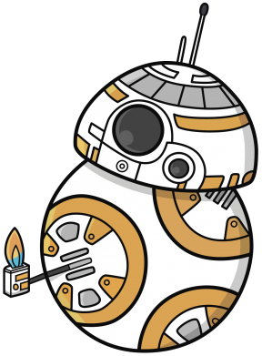 Принт Майка-тельняшка BB-8 Like - FatLine
