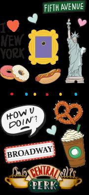 Принт Жіноча футболка Sticker New York, Фото № 1 - FatLine