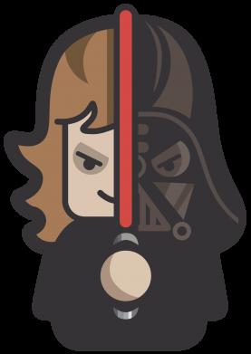 Принт Тельняшка с длинным рукавом Sweet Vader - FatLine