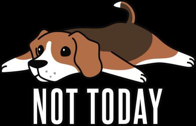 Принт Женская футболка Dog not today, Фото № 1 - FatLine