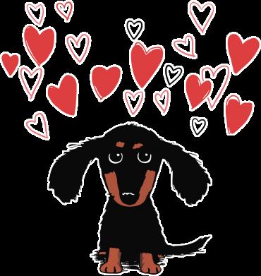 Принт Жіноча футболка I love dachshund, Фото № 1 - FatLine