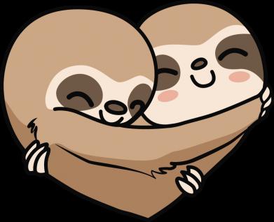 Принт Жіноча футболка Love sloths, Фото № 1 - FatLine