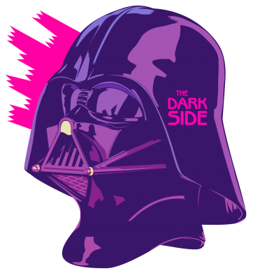 Принт Футболка Поло The Dark Side Art - FatLine