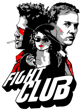Принт Майка-тельняшка Fight Club Fan Art - FatLine