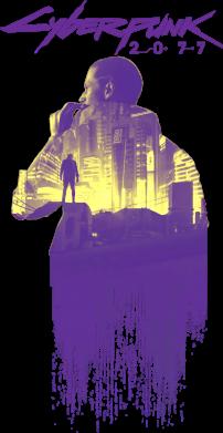 Принт Женская футболка Мир Cyberpunk 2077, Фото № 1 - FatLine