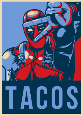 Принт Шапка Deadpool Tacos - FatLine