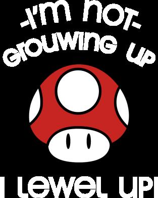 Принт Женская футболка I'm not growing up, i level up, Фото № 1 - FatLine