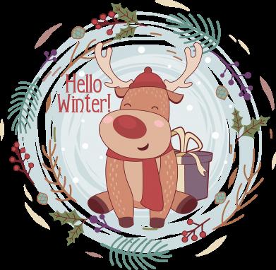 Принт Женская футболка Hello winter!, Фото № 1 - FatLine