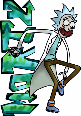 Принт Чоловіча футболка Rick and text Morty, Фото № 1 - FatLine