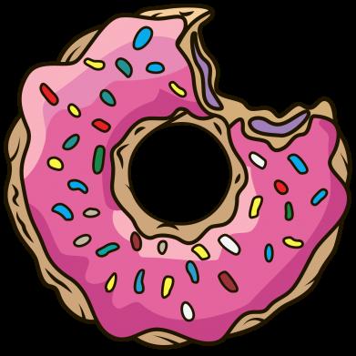 Принт Коврик для мыши Пончик - FatLine