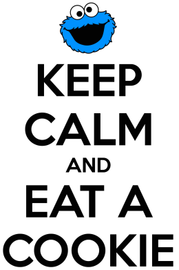 Принт Футболка Поло Keep Calm and Eat a cookie - FatLine