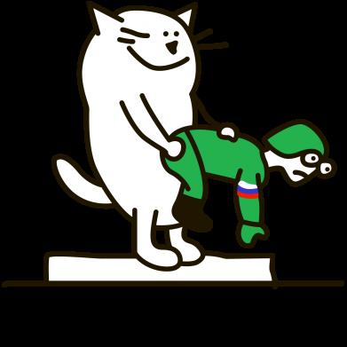 Принт Мужская майка Kit-Kat - FatLine