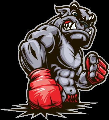 Принт Женская майка Bulldog MMA - FatLine