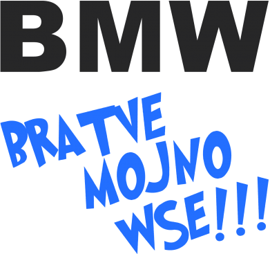 Принт Кружка 320ml BMW Bratve mojno wse!!! - FatLine