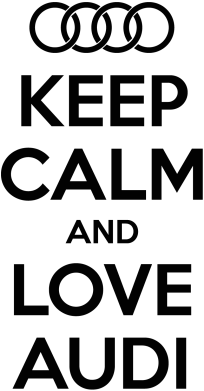Принт Подушка Keep Calm and Love Audi - FatLine
