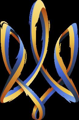 Принт Мужская футболка  с V-образным вырезом Герб Украины Лента - FatLine