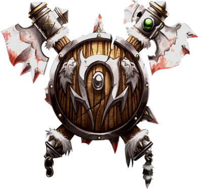 Принт Футболка Поло Insignia of the horde - FatLine
