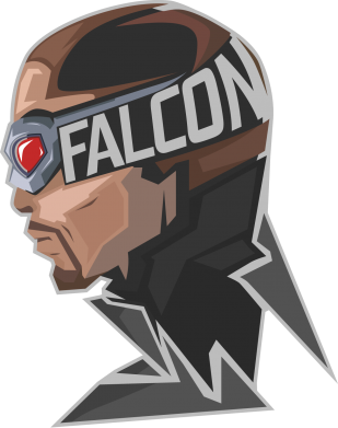 Принт Футболка Поло Falcon - FatLine