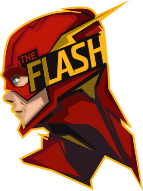 Принт Футболка Поло The Flash - FatLine