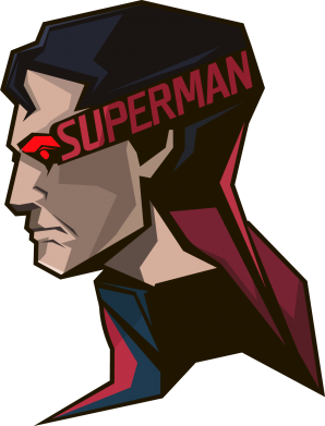 Принт Реглан Superman Art - FatLine
