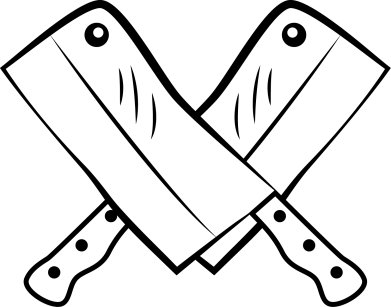 Принт Женская футболка с V-образным вырезом Knives - FatLine