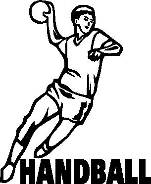 Принт Тельняшка с длинным рукавом Handball - FatLine