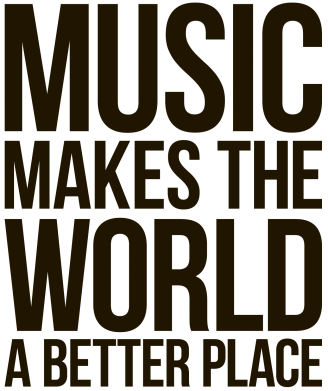 Принт Фартук Music makes the world a better place - FatLine