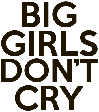 Принт Фартук Big girls don't cry - FatLine